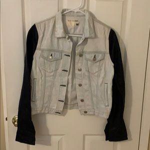 Rag and bone leather and denim jacket
